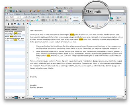 Snímek obrazovky s vyhledávacím panelem Office na standardním panelu nástrojů