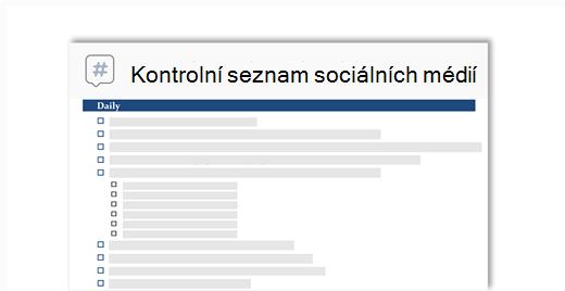 koncepční obrázek kontrolního seznamu sociální média