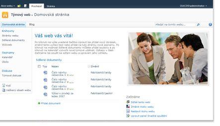 Týmový web služby SharePoint