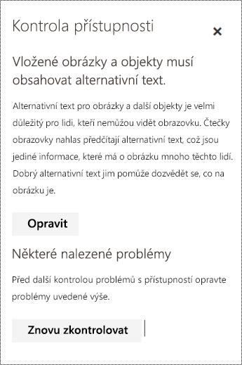 Zkontrolujte možné problémy s přístupností v e-mailech v Outlooku na webu.