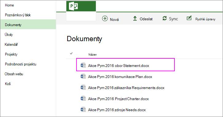 Pomocí navigace v systému souborů vyhledejte a vyberte příkaz obor.