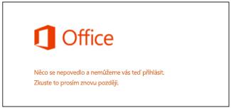 Problém s přihlášením k účtu Microsoft