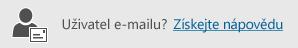 Tlačítko získání nápovědy pro uživatele e-mailu