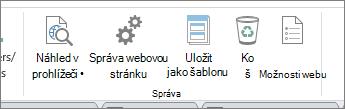 Správa webů tlačítka