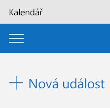Přidat novou událost v aplikaci Kalendář