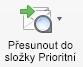 Tlačítko Přesunout do složky Prioritní