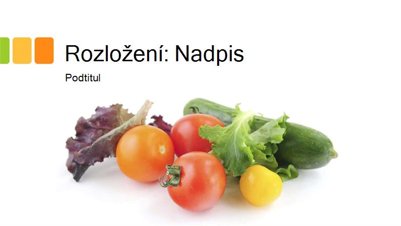 fotka prezentace o čerstvých potravinách