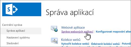Otevřete nastavení webové aplikace