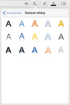 Textové efekty