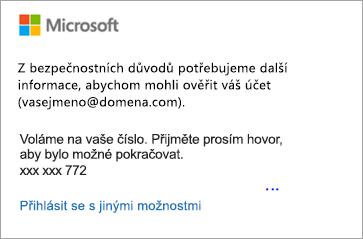Zkontrolujte svoje textové zprávy a zadejte 6ciferný kód.