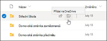 Přidejte zástupce na OneDrive