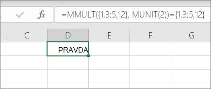 Příklad funkce MUNIT