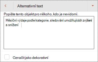 Alternativní text pro tabulku v PowerPointu pro Android