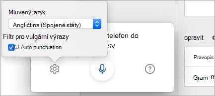 Diktování v jiných jazycích