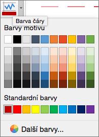 Zvolte požadovanou barvu