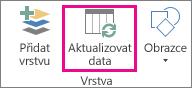 Tlačítko Aktualizovat data na kartě Domů