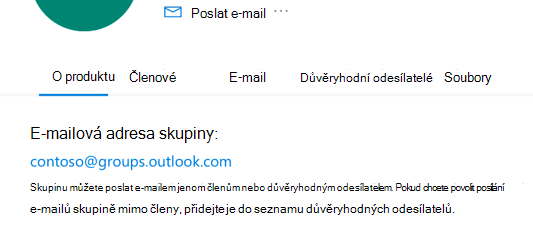 Přidejte důvěryhodné odesílatele do Outlook.com skupiny.