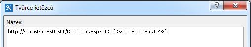 Vložení hypertextového odkazu na položku seznamu 4