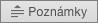 Zobrazuje tlačítko Poznámky v PowerPointu 2016 pro Mac.