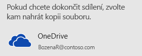 Pokud jste ještě prezentaci neuložili na OneDrive ani na SharePoint, zobrazí se v PowerPointu výzva, abyste to udělali.