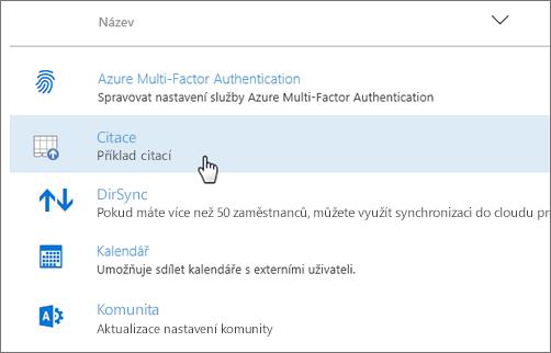 Doplněk nasazený pomocí Centra pro správu Office 365