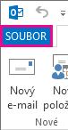 Karta Soubor v Outlooku