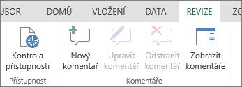 Přidání, úprava, odstranění a zobrazení komentářů