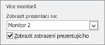 Možnosti monitoru v PowerPointu 2010