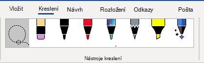 Karta nástroje kreslení na pásu karet aplikace Word