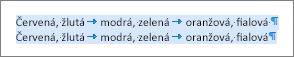 Příklad zdrojového textu připraveného na převod do tabulky