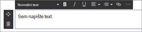 Webová část Text