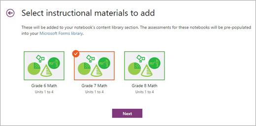 Zvolte instruktážní materiály, které chcete přidat.
