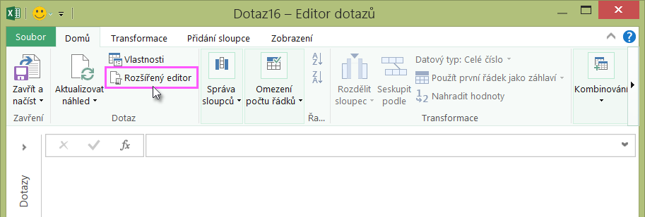 Rozšířený editor