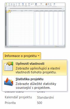 Obrázek nabídky Vlastnosti souboru