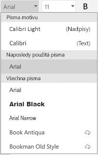 Seznam písma