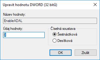 Hodnota 0 v Editoru registru