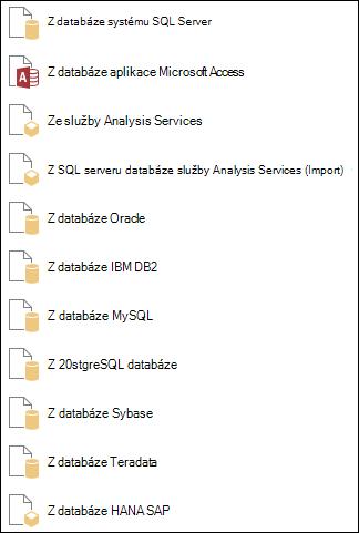Načtení dat z databáze