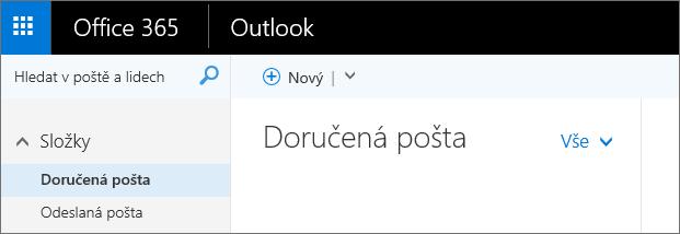 Podoba pásu karet v Outlooku na webu.