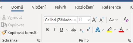 Přidání a formátování textu ve Wordu