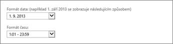 Nastavení formátu data a času v Outlook Web Appu