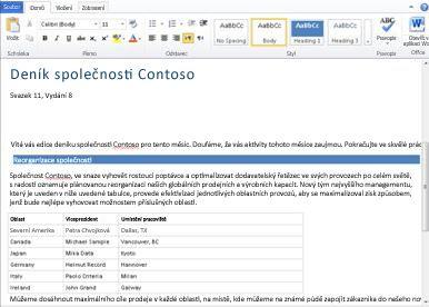 Webová aplikace Word Web App