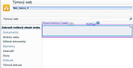 Přidání stránek v aplikaci SharePoint Designer 2010