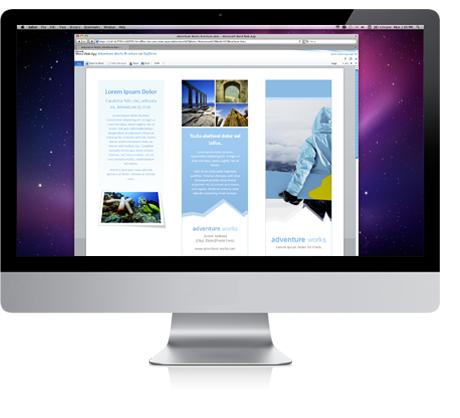 Wordový dokument zobrazený ve webové aplikaci Word Web App