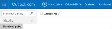 Pás karet ve službě Outlook.com nebo Hotmail.com