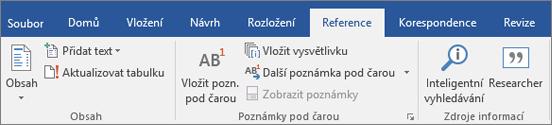 Office 365 Word – Researcher na pásu karet
