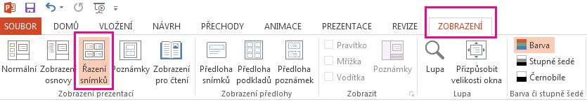 Vyberte možnost je na pásu karet aplikace Excel.