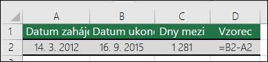 Výpočet doby mezi dvěma daty