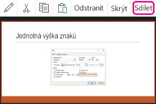 Příkaz Sdílet v PowerPointu pro Android