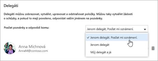 Snímek obrazovky s dialogem Sdílet tento kalendář