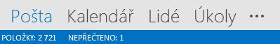 Karta Lidé je v dolní části obrazovky Outlooku.